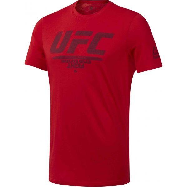 Reebok UFC FG LOGO TEE piros M - Férfi póló