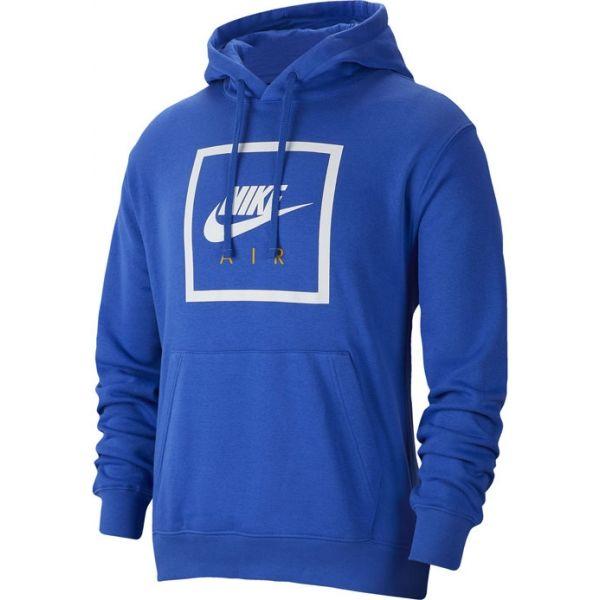 Nike NSW PO HOODIE NIKE AIR 5 M modrá 2XL - Pánská mikina