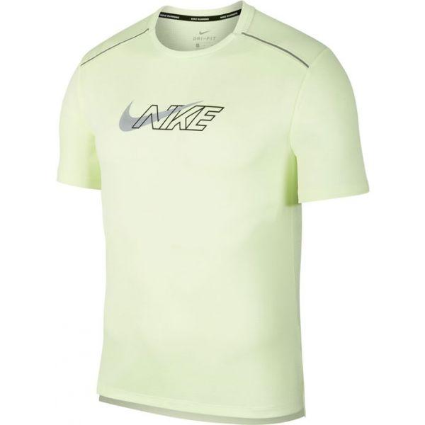 Nike DF MILER SS FLASH NV M světle zelená XXL - Pánské běžecké tričko