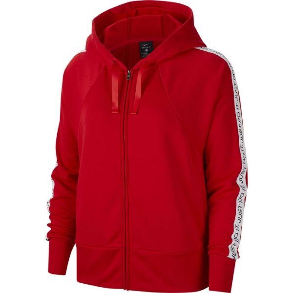 Nike DRY FLC GET FIT HD FZ JDI piros L - Női sportfelső