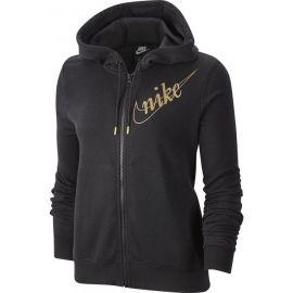 Nike NSW HOODIE FZ FLC GLITTER W - Dámská mikina