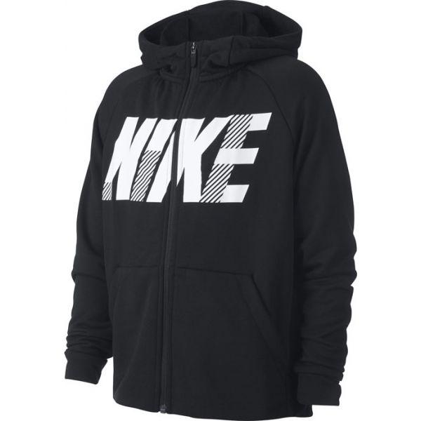 Nike DRY GFX FZ HOODIE B fekete XL - Fiú pulóver