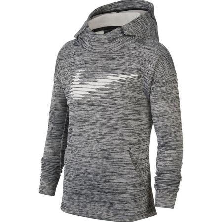 Nike THERMA GFX PO HOODIE B - Chlapecká tréninková mikina