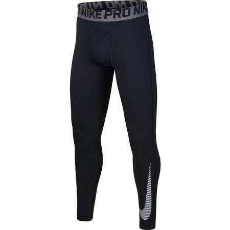 Chlapecké tréninkové legíny - Nike NP THERMA TIGHT GFX B - 1