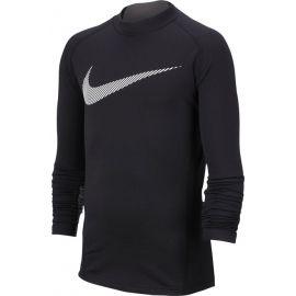 Nike NP LS THERMA MOCK GFX B - Chlapecký tréninkový top