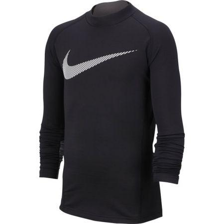 Nike NP LS THERMA MOCK GFX B - Chlapčenský tréningový top