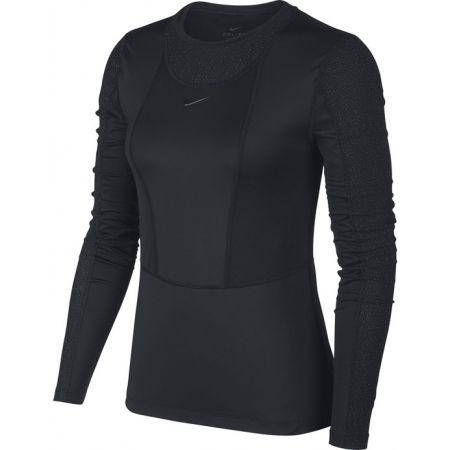 Dámské triko s dlouhým rukávem - Nike NP PWARM HOLLYWOOD TOP W - 1