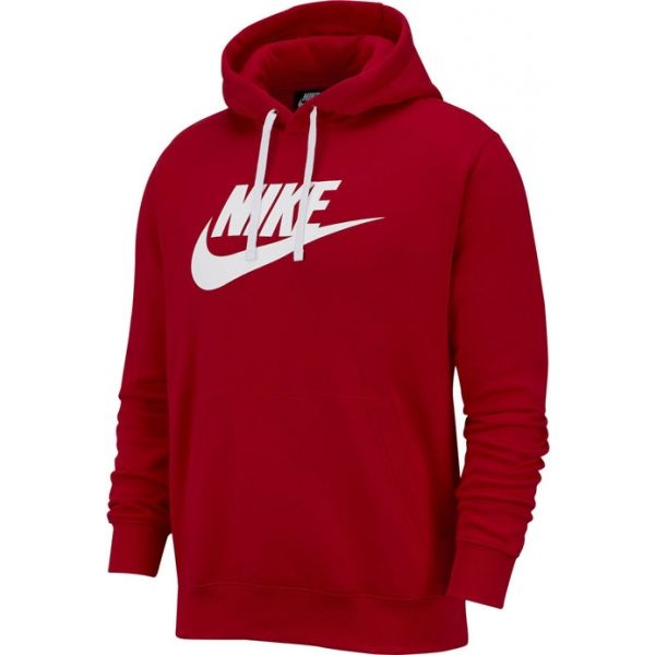 Nike NSW CLUB HOODIE PO BB GX M červená S - Pánská mikina