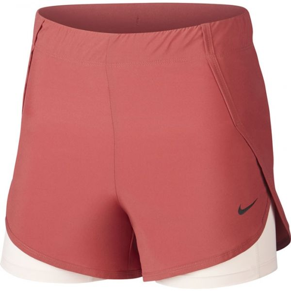 Nike FLX 2IN1 SHORT WOVEN W narancssárga M - Női rövidnadrág
