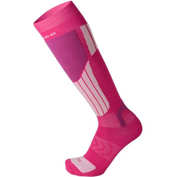 Mico LIGHT WEIGHT NATURAL MERINO SKI SOCKS ružová S - Lyžiarske podkolienky