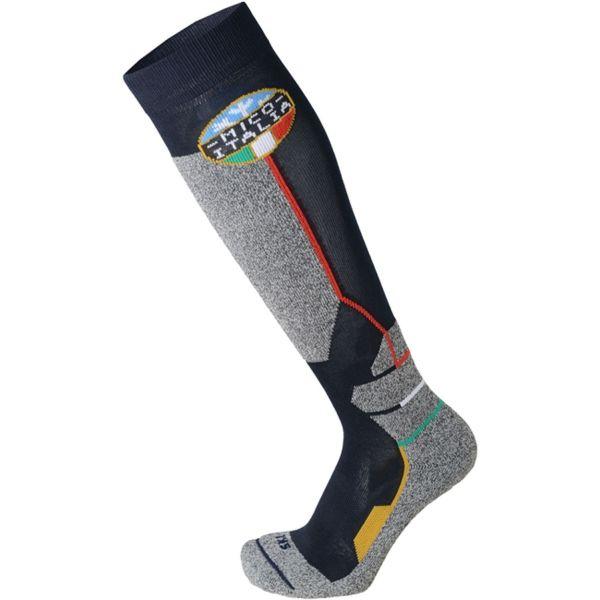 Mico WEIGHT OFFICIAL ITA SKI SOCKS JR šedá XL - Detské lyžiarske ponožky