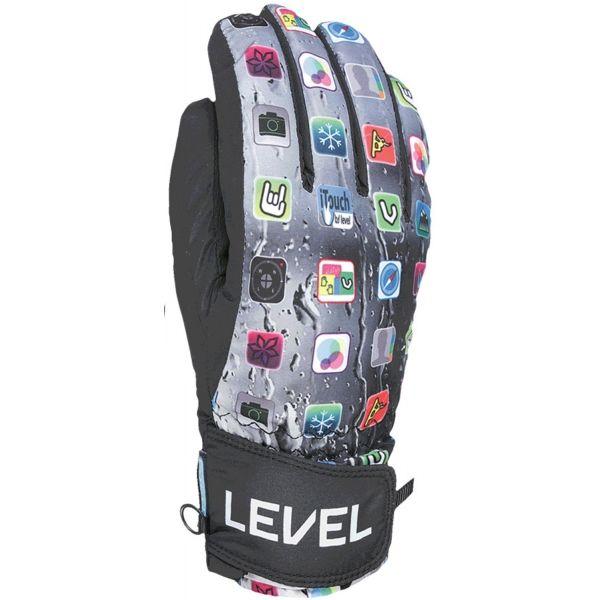 Level JUKE JR černá 7 - Dětské lyžařské rukavice