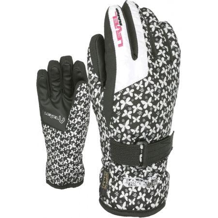 Detské lyžiarske rukavice - Level DARK JR - 2