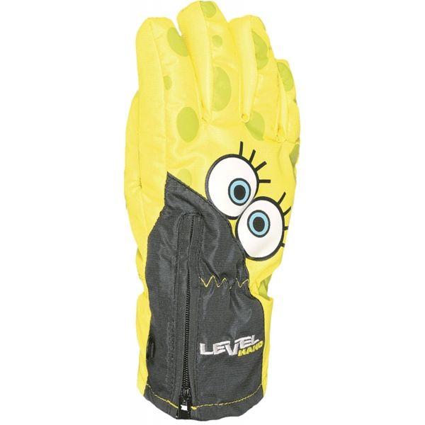 Level LUCKY žlutá 3 - Voděodolné celozateplené rukavice