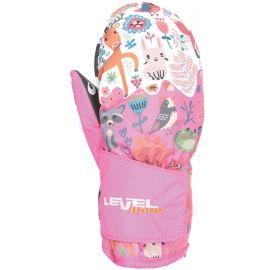 Level 4174JM-27 ANIMAL PINK - Mănuși impermeabile pentru copii