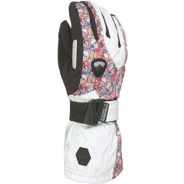 Level BUTTERFLY W bílá 7 - Dámské snowboardové rukavice