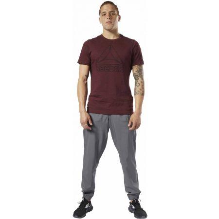 Pánské tričko - Reebok TE MARBLE MELANGE BIG LOGO TEE - 1