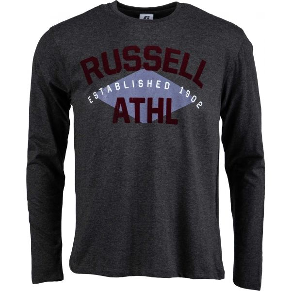 Russell Athletic L/S CREWNECK TEE SHIRT ESTABLISHED 1902 fekete L - Férfi póló
