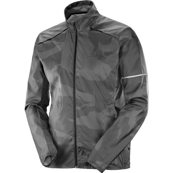 Salomon AGILE WIND tmavo šedá M - Pánska bunda