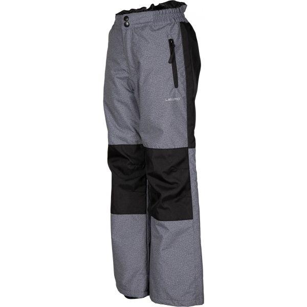 Lewro NADAL šedá 164-170 - Detské lyžiarske nohavice