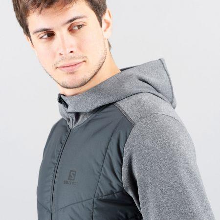 Men's hoodie - Salomon PULSE HYBRID HOODIE - 3