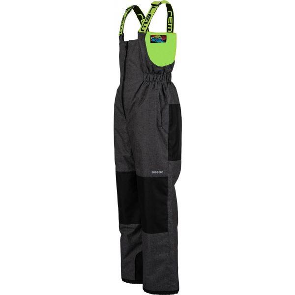Lewro BONIFACE zelená 104-110 - Detské lyžiarske nohavice
