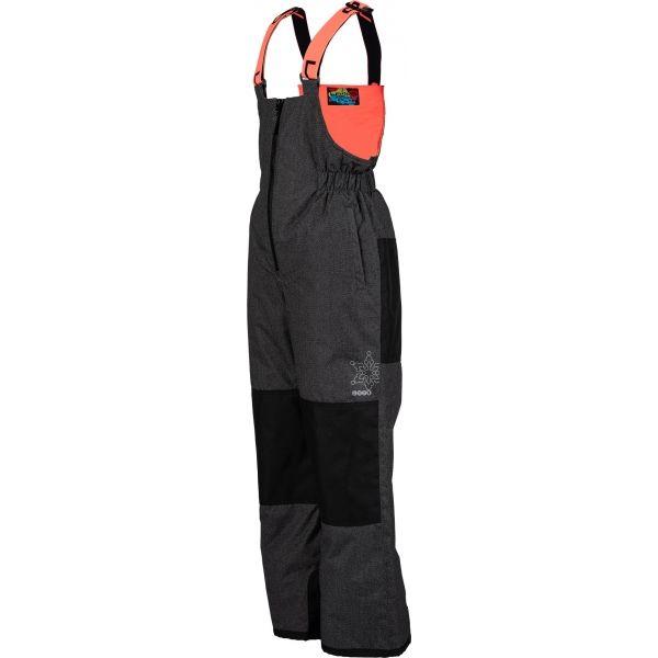 E-shop Lewro BONIFACE oranžová 104-110 - Dětské lyžařské kalhoty