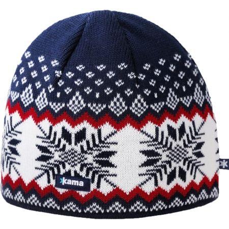 Pánská pletená čepice - Kama A137-108 ČEPICE MERINO - 1