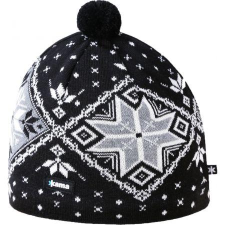 Kama A138-110 ШАПКА С МЕРИНО ВЪЛНА - Мъжка плетена шапка