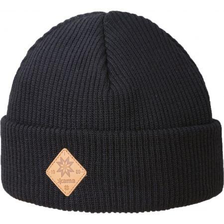 Kama A136-110 ШАПКА С МЕРИНО ВЪЛНА И ПОМПОН - Плетена шапка
