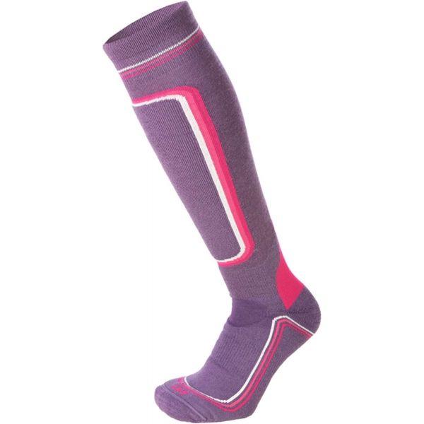 Mico HEAVY PRIMALOFT WOMAN SKI SOCKS W fialová L - Dámske lyžiarske ponožky
