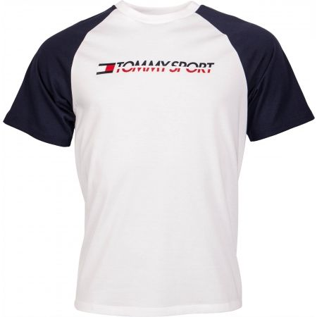 Tommy Hilfiger LOGO TEE WITH TAPE - Pánske tričko
