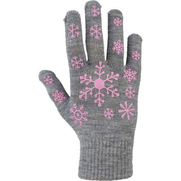 Lewro ARIADNA šedá 8-13 - Detské pletené rukavice