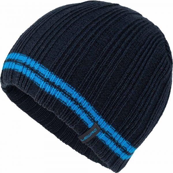 Lewro ARGO černá 4-7 - Chlapecká pletená čepice