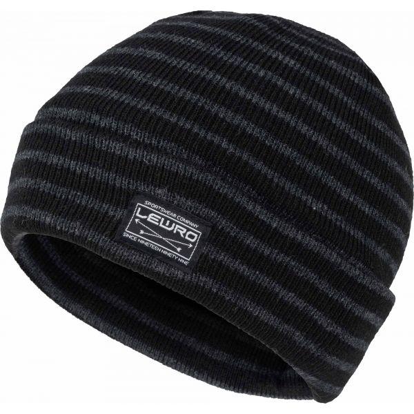 Lewro BULUT černá 12-15 - Chlapecká pletená čepice