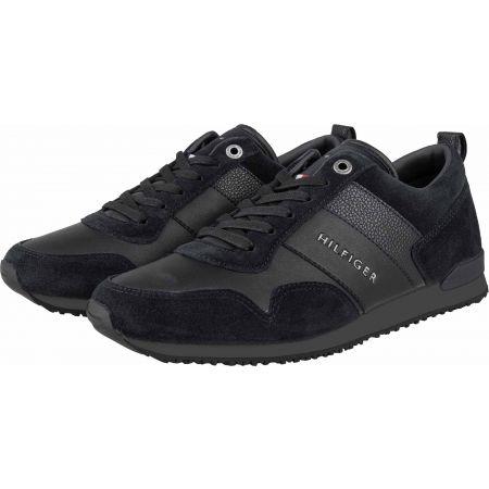 Pánska voľnočasová obuv - Tommy Hilfiger ICONIC LEATHER SUEDE MIX RUNNER - 2