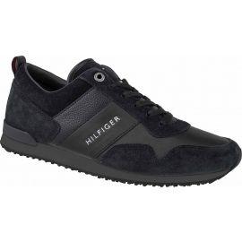 Tommy Hilfiger ICONIC LEATHER SUEDE MIX RUNNER - Pánska voľnočasová obuv
