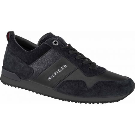 Tommy Hilfiger ICONIC LEATHER SUEDE MIX RUNNER - Férfi szabadidőcipő