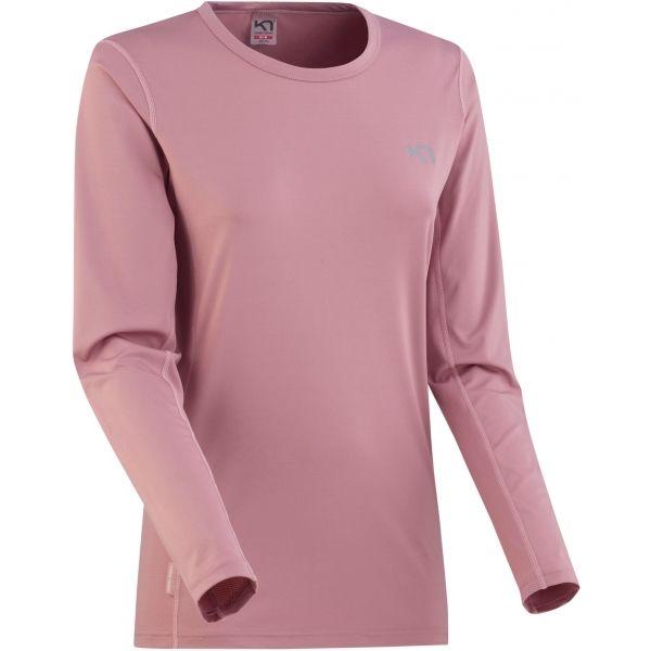 KARI TRAA NORA LS růžová M - Dámské tréninkové tričko s dlouhým rukávem