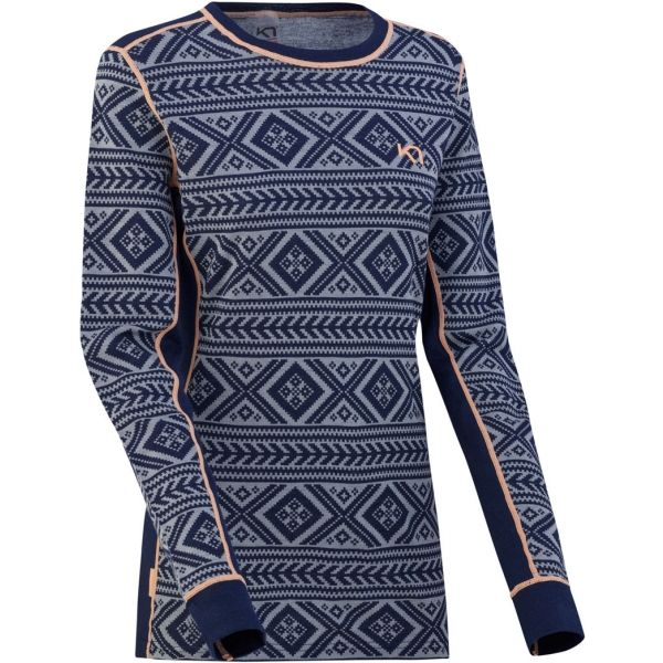 KARI TRAA FLOKE LS kék XL - Hosszú ujjú női póló