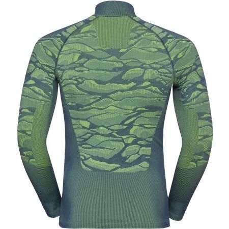Pánské tričko se stojáčkem - Odlo BL TOP TURTLE NECK L/S HALF ZIP BLACKCOM - 2