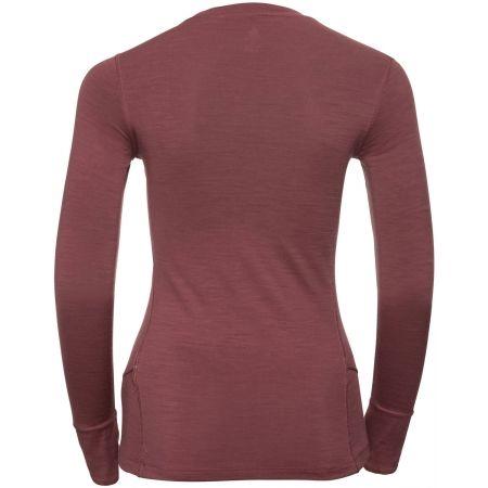 Dámske tričko s dlhým rukávom - Odlo SUW TOP CREW NECK L/S NATURAL 100% MERINO - 2