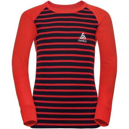 Odlo BL TOP CREW NECK L/S ACTIVE WARM KIDS - Detské tričko s dlhým rukávom