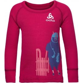 Odlo SUW KIDS TOP L/S CREW NECK ACTIVE WARM TREND SMALL - Dětské tričko