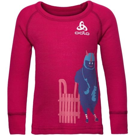 Dětské tričko - Odlo SUW KIDS TOP L/S CREW NECK ACTIVE WARM TREND SMALL - 1