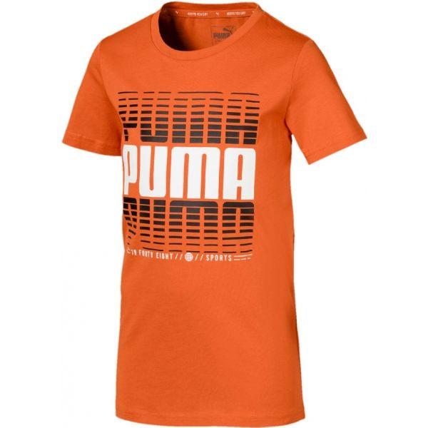 Puma ACTIVE SPORTS TEE B oranžová 164 - Chlapecké sportovní triko