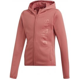 adidas YOUTH GIRLS GEAR UP FULL ZIP HOODIE - Bluza dziewczęca
