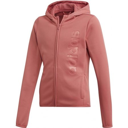 adidas YOUTH GIRLS GEAR UP FULL ZIP HOODIE - Girls' sweatshirt