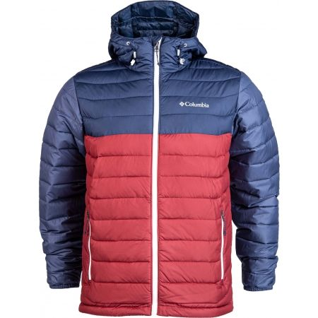 Pánská bunda - Columbia POWDER LITE HOODED JACKET - 1