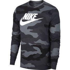 Nike NSW LS TEE CAMO M - Pánské tričko s dlouhým rukávem